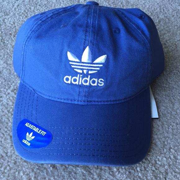6fe3a9fcdac11 Adidas originals blue hat baseball NWT white